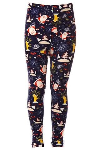 Kid's Colorful Christmas Theme Pattern Printed Leggings