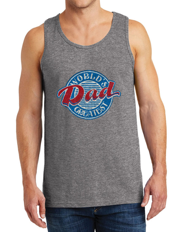Men's Heavy Cotton World's Greatest Dad Tank Tops – XS ~ 3XL
