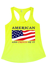 Women's American And Proud of It Graphic Print Polyester Tank Tops for Regular and PLUS - Small ~ 3XL