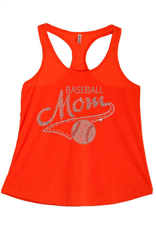 Women's Baseball Mom Rhinestone Graphic Print Polyester Tank Tops for Regular and PLUS - Small ~ 3XL