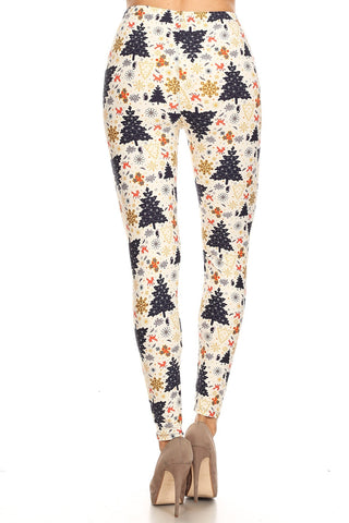 Women's Regular Fun Christmas Theme Pattern Printed Leggings