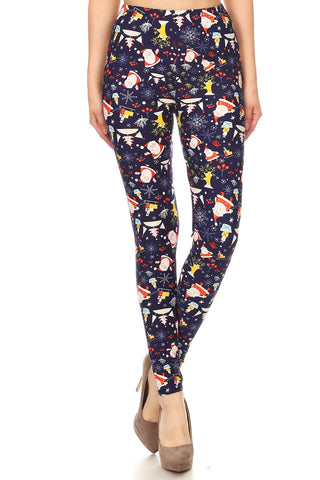 Women's Regular Colorful Christmas Theme Pattern Printed Leggings