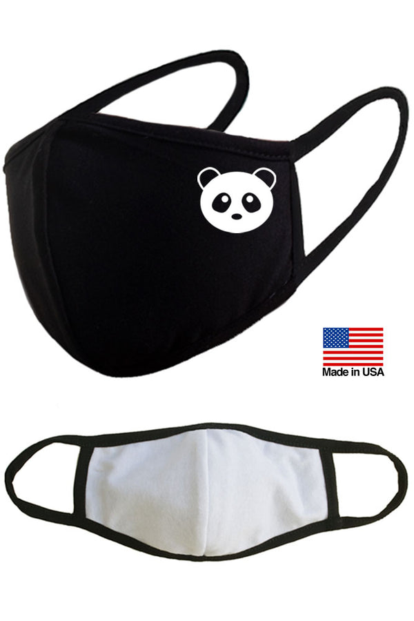 Giant Panda Reusable Washable Cotton Face Masks - Made in USA