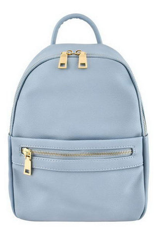 Women & Girl Designer Inspired Fashion Leather Front Zipper Mini Backpack