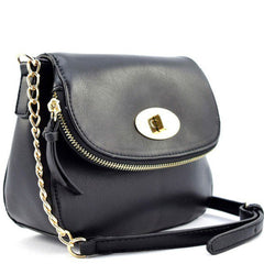 Designer Inspired Fashion Twist Lock Crossbody Bag