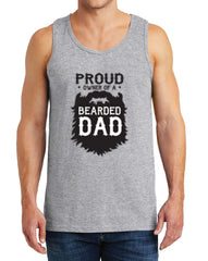 Men's Proud Owner of a Bearded Dad Heavy Cotton Tank Tops – XS ~ 3XL