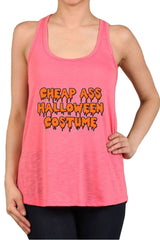 Women's Cheap Ass Halloween Costume Print Polyester Tank Tops for Regular and PLUS - Small ~ 3XL