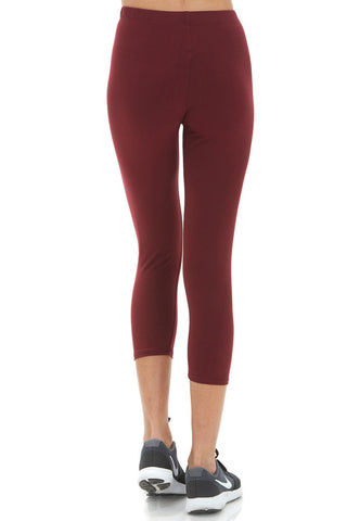 Women's Regular Solid Capri Leggings- For Workout Purposes