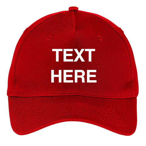 Create Your Own Text - 5 Panel Twill Adjustable Caps – Personal Custom Text