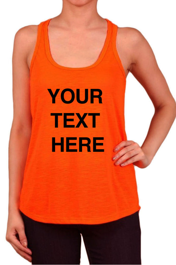 Create Your Own Text - Women's Polyester Tank Tops for Regular and PLUS - Small ~ 3XL - Personalization Customization Shirts