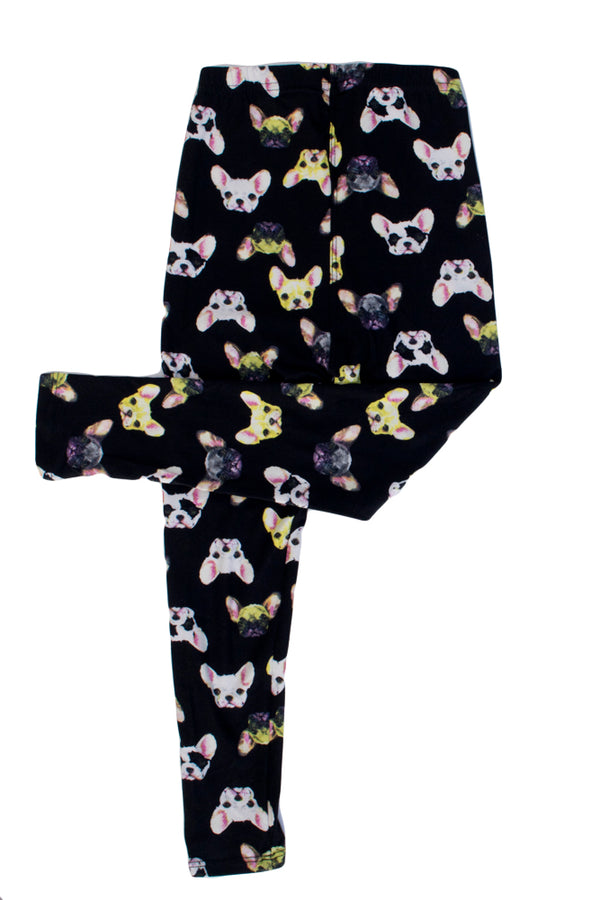Kid's colorful French Bulldog Animal Pattern Printed Leggings
