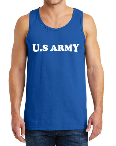 Men's US Army with Arch Design Heavy Cotton Tank Tops – XS ~ 3XL