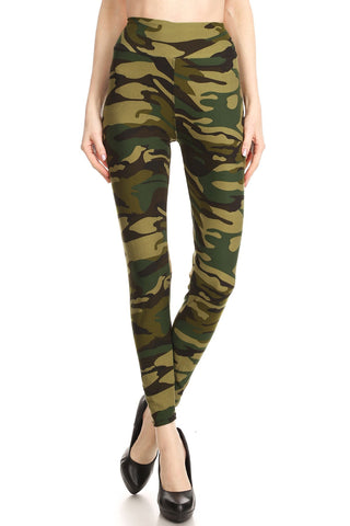 Women Regular High Waist Camouflage Military Printed Yoga Work Out Pants Legging