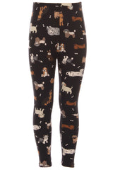 Kid's colorful Cute Puppy Dog Pattern Printed Leggings