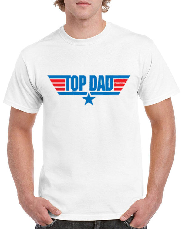 Men's Top Dad Graphic Print Heavy Cotton Classic Fit Round Neck Short Sleeve T-Shirts – S ~ 3XL