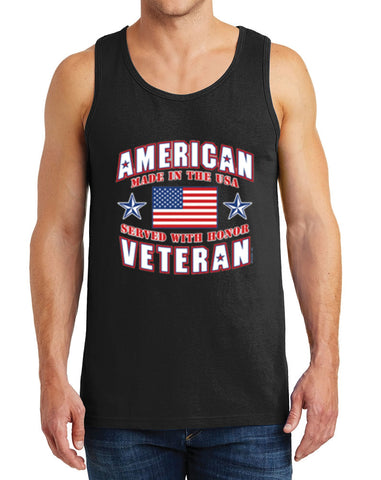 Men's American Veteran Heavy Cotton Tank Tops – XS ~ 3XL
