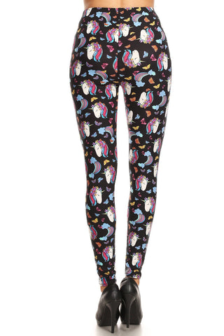 Women's Regular Unicorn Dream Pattern Printed Leggings