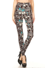 Women's Regular Camera Theme Photography Pattern Printed Leggings