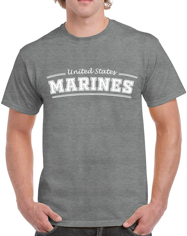 Men's Proud Dad Marines Heavy Cotton Classic Fit Round Neck Short Sleeve T-Shirts – S ~ 3XL