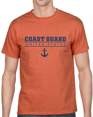 Men's United States Coast Guard Heavy Cotton Classic Fit Round Neck Short Sleeve T-Shirts – S ~ 3XL