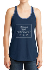 Women's I Know Guacamole is Extra Graphic New Era Heritage Blend Racerback Tank Tops for Regular and Plus - XS ~ 4XL