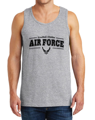 Men's United States Air Force Graphic Printed Heavy Cotton Tank Tops – XS~3XL