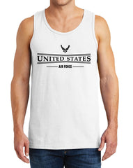Men's United States Air Force with Symbol Heavy Cotton Tank Tops – XS ~ 3XL