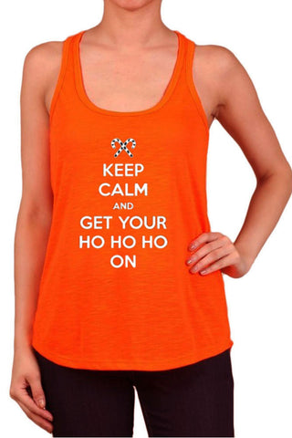 Women's Keep Calm & Get Your Ho Ho On Polyester Tank Tops for Regular and PLUS - Small ~ 3XL