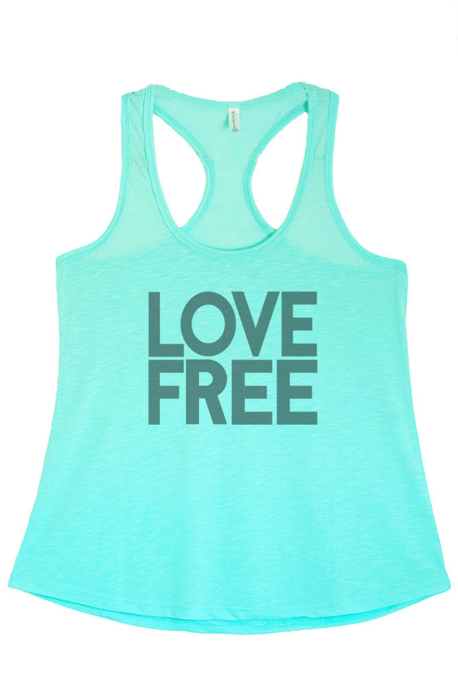 Women's Regular Love Free Printed Graphic Polyester Tank Top
