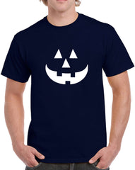 Men's Pumpkin Glow in the Dark Heavy Cotton Classic Fit Round Neck Short Sleeve T-Shirts – S ~ 3XL