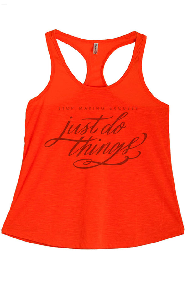 Women's PLUS Just Do Things Printed Graphic Polyester Tank Top