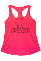 Women's PLUS Best Dressed Printed Graphic Polyester Tank Top