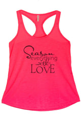 Women's Regular Season Everything With Love Graphic Print Polyester Tank Top