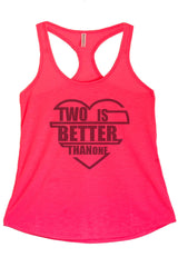 Women's Regular Two Is Better Than One Graphic Print Polyester Tank Top
