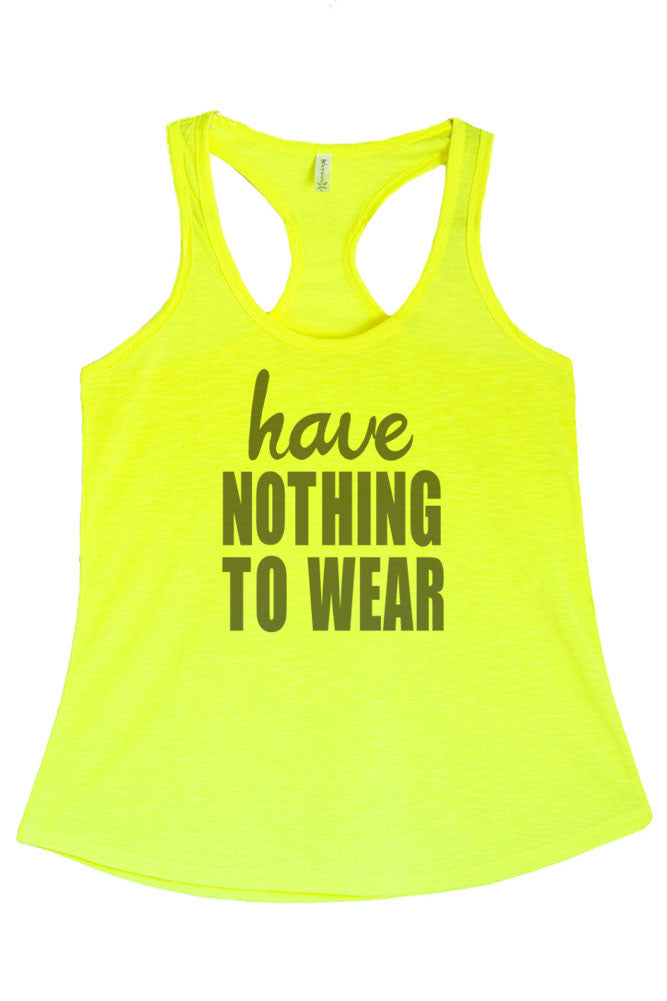 Women's Regular Have Nothing to Wear Printed Graphic Polyester Tank Top