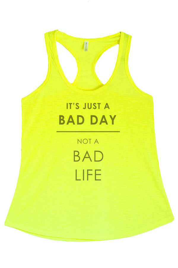 Women's PLUS It's Just a Bad Day Not a Bad Life Printed Graphic Polyester Tank Top