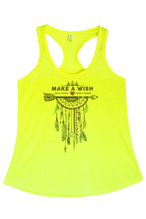 Women's PLUS Make A Wish Heart and Arrow Printed Graphic Polyester Tank Top