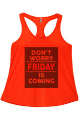 Women's PLUS Don't Worry Friday is Coming  Printed Graphic Polyester Tank Top