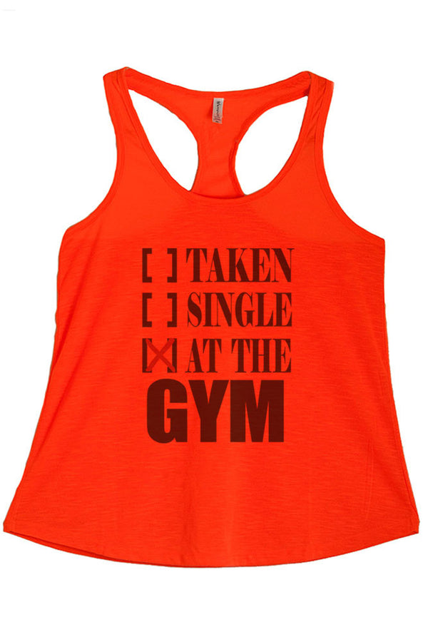 Women's Regular At the Gym Printed Graphic Polyester Tank Top