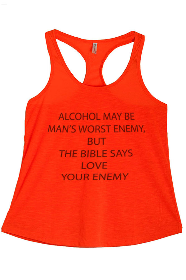 Women's Regular Alcohol Graphic Print Polyester Tank Top