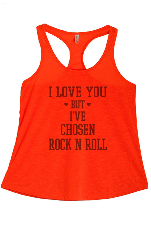 Women's PLUS I Love You but I've Chosen Rock N Roll  To Printed Graphic Polyester Tank Top