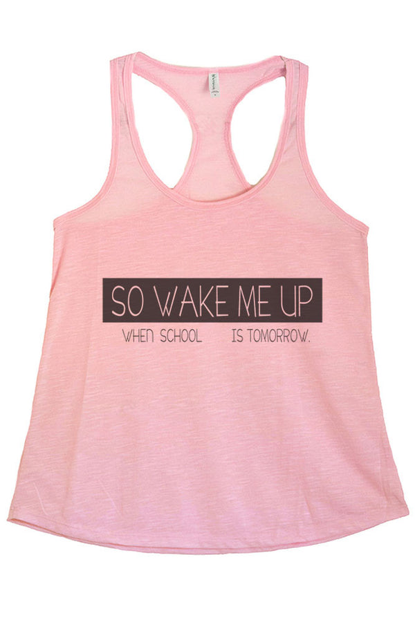 Women's PLUS So Wake Me Up Graphic Print Polyester Tank Top