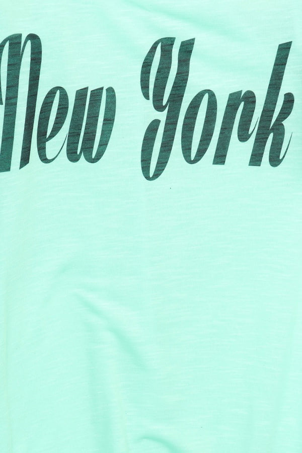 Women's Regular New York Printed Graphic Relaxed Style Tank Top
