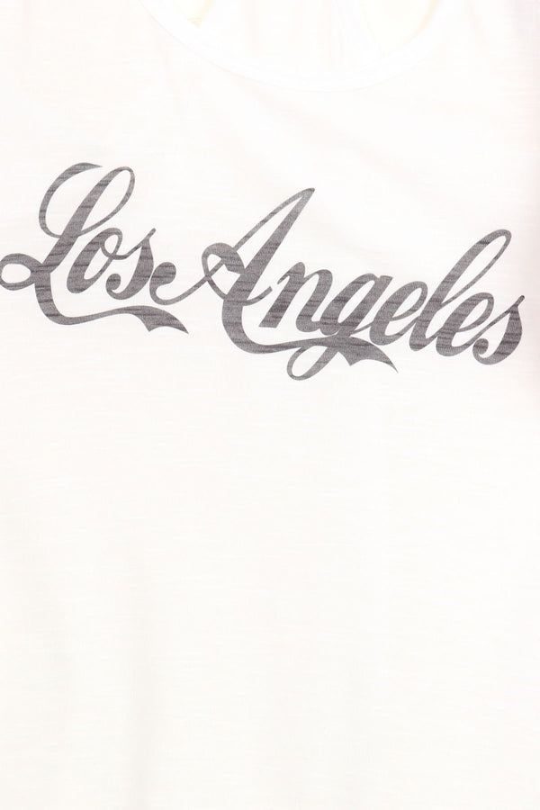 Women's Regular Los Angeles Print Sleeveless Printed Tank Top with a racerback