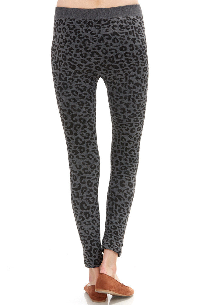 Women's Regular Leopard Fleece Leggings