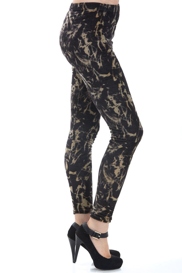 Women's Regular Abstract Smoke Leggings