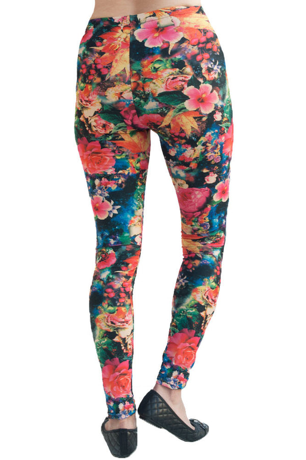 Women's Plus Beautiful Sharon Rose Pattern Leggings
