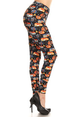Women's Regular colorful Camper Vans Pattern Printed Leggings