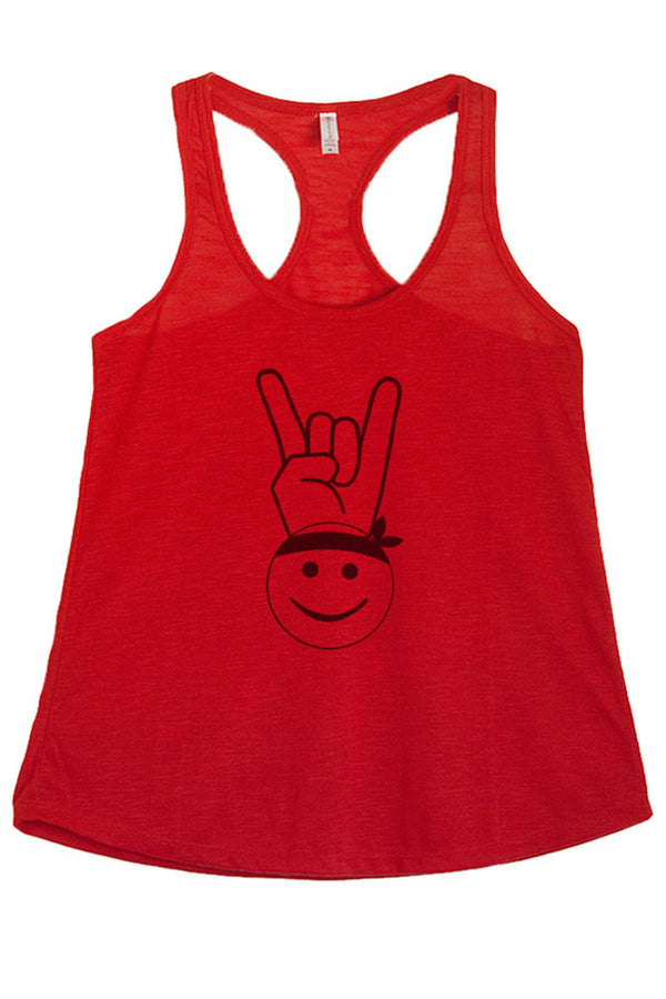 Women's PLUS Rock Happy Face Symbol Graphic Print Polyester Tank Top