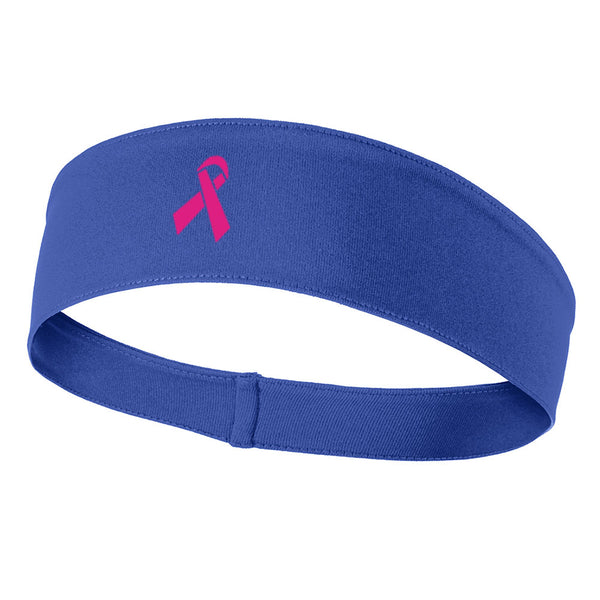 Breast Cancer Ribbon Graphic Printed Moisture Wicking Headbands for Men and Women
